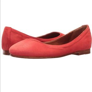 Frye Carson Ballet Flat Coral Suede NWOB Size 7 🔥